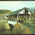 Covered Bridge Lyndon Vermont Woody Station Wagon Road and Homes 1075