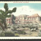 Splendid View of Red Rock Canyon California White House Cliff 1935 White Border Postcard 1066