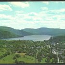 Birds Eye View Crystal Lake Barton Vermont Mountains Chrome Postcard 81