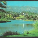 Andre Clark Bird Refuge Santa Barbara California Lake Mountain View Chrome Postcard 104