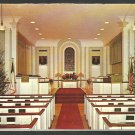 North Parish Congregational Church Sanford Maine 1965 Christmas Card Pews Altar Christmas Trees 1091