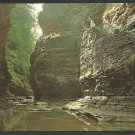 The Vista Watkins Glen New York Tourists Walking down Stairwell Chrome Postcard 1103