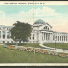 New National Museum Washington DC Flower Bed Lamp Post Walkway White Border Postcard 1105