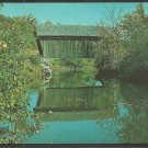 Covered Wooden Bridge The Martin Bridge Marshfield Vermont Chrome Postcard 1108
