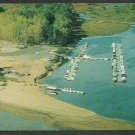Birds Eye View Three Rivers Quebec Marina Chrome Postcard 1111