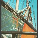 Fishermen Touching Up the Fishing Boat Magellan on Cape Cod Chrome Postcard 1114