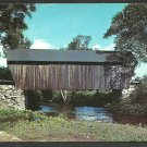 The Old Covered Bridge Bradford New Hampshire Chrome Postcard 1116