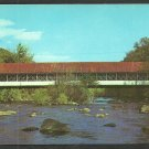 The Old Covered Bridge in Ashuelot New Hampshire Chrome Postcard 1118