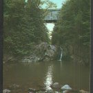 Swimming Hole Under Halpin Bridge Middlebury Vermont Chrome Postcard 1121