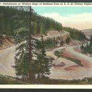 Switchbacks On Western Slope Berthoud Pass U.S.40 Victory Highway Colorado White Border Postcard