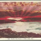 A Beautiful Sunrise As Seen From Pikes Peak Colorado 1910 White Border Postcard 1126