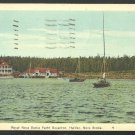 Royal Nova Scotia Yacht Squadron & Buildings Halifax Nova Scotia White Border Postcard 1148
