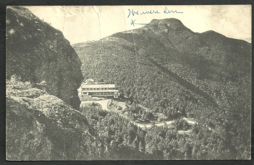 Birds Eye View Mt Mansfield Hotel Vermont Green Mountains Postcard 204
