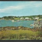 Southport Maine Harbor Cottages Fishing Lobster Boats Pier Chrome Postcard 206