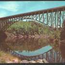 French King Bridge pre-renovation Mohawk Trail Connecticut River Route 2 Chrome postcard 209