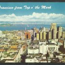 San Francisco California From Top O the Mark Bay Bridge Yerba Buena Oakland Chrome Postcard 211