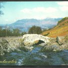 Derwentwater Old Lakeland Ashness Bridge Cumbria UK United Kingdom Chrome Postcard 231