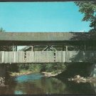 Covered Bridge Over Peaceful Stream Lyndon Vermont Chrome Postcard 1179