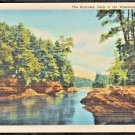 The Narrows Dells of the Wisconsin River Linen Postcard 275