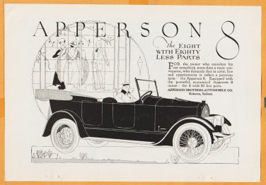 1919 Ads Apperson Brothers Automobile Egyptian Deities Cigarettes w/ Can Can Girl