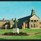 Merrimack College North Andover MA Christ the Teacher Statue & Chapel Chrome Postcard 1185