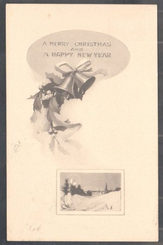 A Merry Christmas & A Happy New Year 1910 Christmas Postcard 284