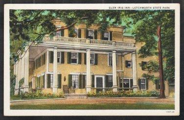 Glen Iris Inn Letchworth State Park New York White Border Postcard 301
