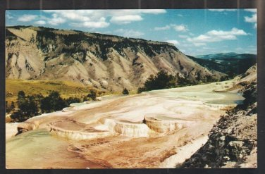 The Terraces Mt Everts Yellowstone National Park Wyoming Chrome Postcard 1202