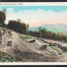 Hair Pin Turn Mohawk Trail MA White Border Postcard 1203 Vintage Autos Mountain