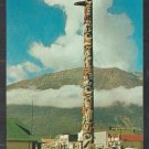 The Totem Pole Downtown Jasper Alberta Canada 1950s Autos Chrome Postcard 1208