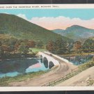 Big Bridge Over Deerfield River 2 Merging Dirt Roads Telephone pole Mohawk Trail MA White Border
