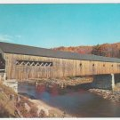 Autumn Foliage & The Old Covered Bridge West Dummerston Vermont Chrome Postcard 1215