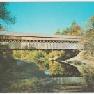 Covered Bridge Over Saxtons River Bellows Falls Vermont Chrome Postcard 1218
