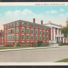 House of Mercy Hospital Pittsfield MA White Border Postcard 422