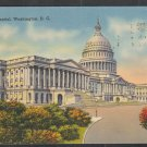 United States Capitol Building Washington DC 1941 Linen Postcard 1223