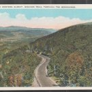 Approach To Western Summit Mohawk Trail The Berkshires White Border Postcard 1228
