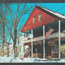 Weston Vermont Country Store Winter Piled Snow Homes Old Car Chrome Postcard 475