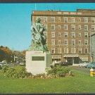Salem MA Nathaniel Hawthorne Monument Hawthorne Hotel Classic Autos Chrome Postcard 480