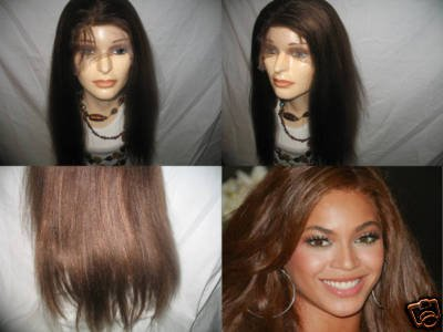"""100% REMI INDIAN FULL LACE WIG LIGHT YAKI 16"""" #1B, #2 WITH HIGHLIGHTS"""