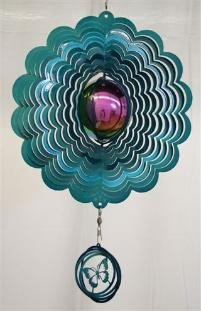 Teal with Butterfly Gazing Ball Sets