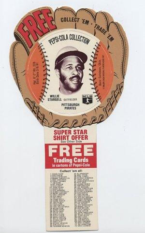 1977 Willie Stargell Pepsi Cola Baseball Glove Disc