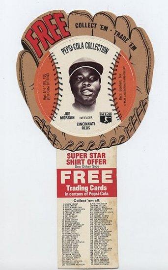 1977 Joe Morgan Pepsi Cola Baseball Glove Disc