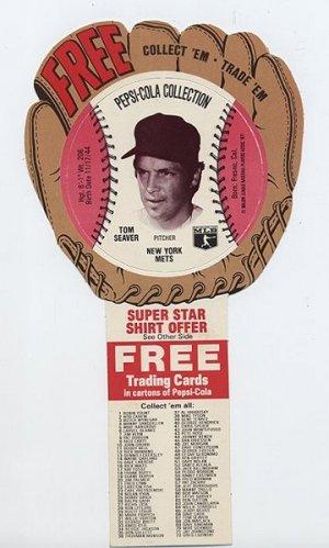 1977 Tom Seaver Pepsi Cola Baseball Glove Disc Mint!