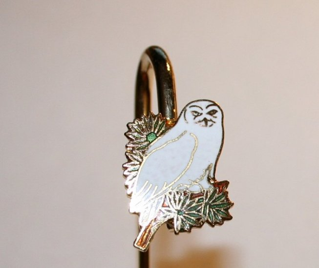 Snowy Owl Metal Bookmark from Alaska