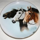 Three Horses Decorative Plate Vintage Stamped Japan