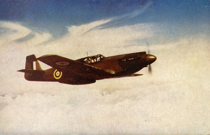 Mustang Fighter 40's/50's Post Card