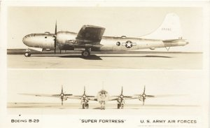 RPPC Super Fortress Boeing B-29 Post Card 1940's
