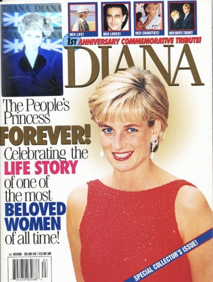 Princess Diana First Anniversary Tribute Holographic Cover