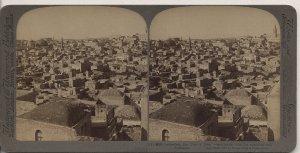 Antique Stereoview Jerusalem, City of Zion Underwood & Underwood