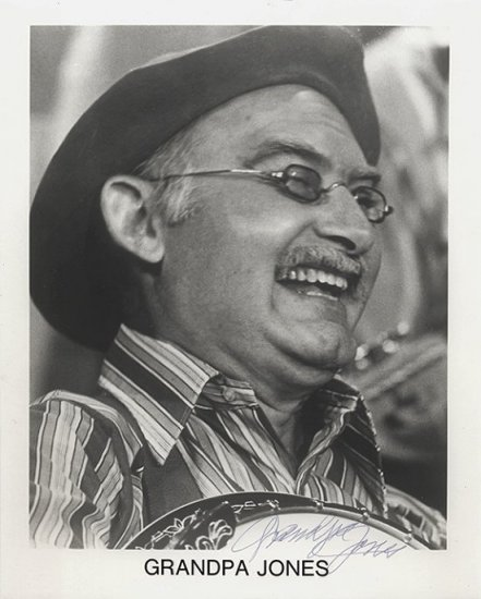 Grandpa Jones Autographed Photo Country Singer (Louis Marshall)